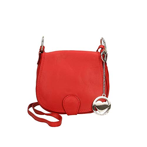 Cm Italy 19x17x6 Made Genuine Bag Borse Red Leather Clutch In Chicca Shoulder qp6vwTO