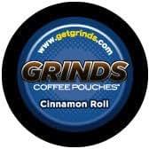 Grinds Coffee Pouches - Non Tobacco dip chew alternative - CINNAMON ROLL - As Seen on SHARK TANK