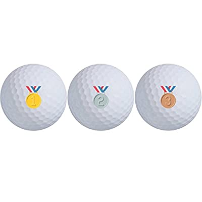 Daft Golfer Gold, Silver, and Bronze Medal Max Distance Golf Balls (3-Ball Pack)