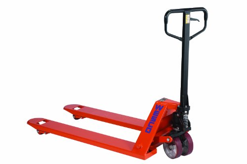 Wesco-272670-CPIIHD-High-Capacity-Pallet-Truck-with-Handle-Polyurethane-Wheels-6600-lbs-Load-Capacity-48-Height-48-Length-x-27-Width