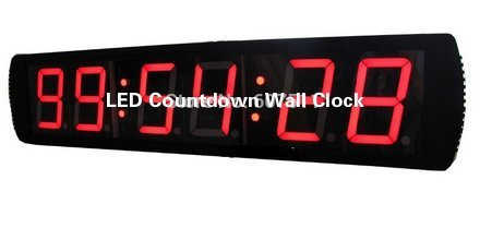 Price comparison product image 4'' Large Digital HH:MM:SS LED Countdown Wall Clock LED Race Clock Multi-Function Clock / Timer For Marathon Running Sport Timing
