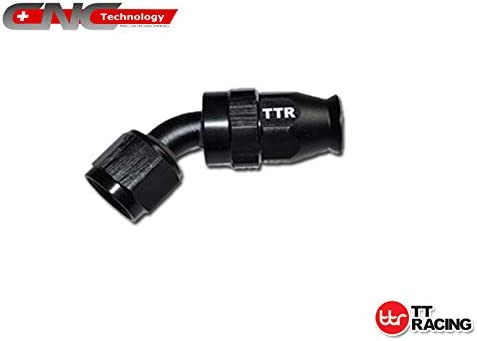 AN-10 Black Nylon PTFE Teflon Fuel Gas Ethanol E85 Oil Line Hose 20FT w//Black Fitting Hose End Swivel Kit NLPTFEAN10/_KIT/_DA/_BLACK