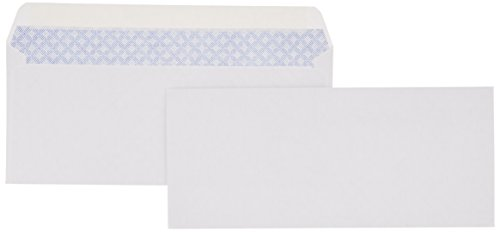 AmazonBasics #10 Security-Tinted Envelope, Peel & Seal, White, (Mail Envelope)