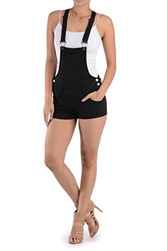 G-Style USA Women's Overall Shorts RJSO115 - Black - 2X-Large - - Black Style Short