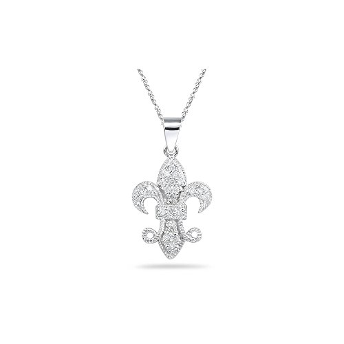 0.19-0.24 Cts SI2 - I1 clarity and I-J color Diamond Pendant in 14K White ()