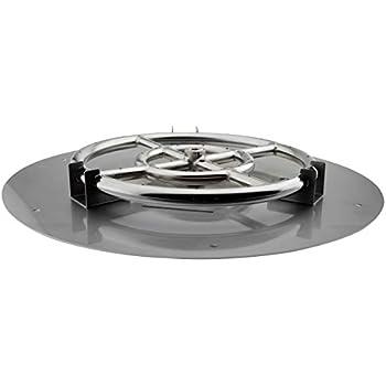 Amazon Com American Fireglass Round Stainless Steel Flat