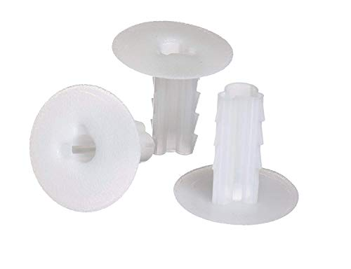 (THE CIMPLE CO - Single Feed Thru Bushing | (White) RG6 Feed Through Bushing (Grommet) Replaces Wallplates (Wall Plates) for Coax Coaxial Cable, Network Cable, CCTV | Indoor/Outdoor Rated - 10 Pack)