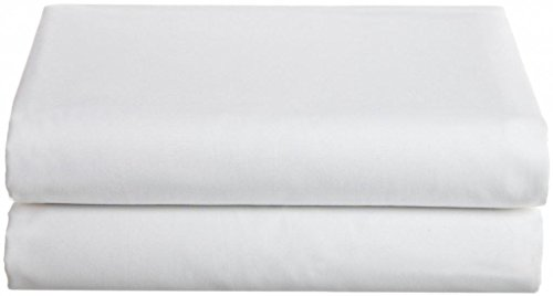 Deluxe Full Flat Bed Sheet 100% Poly Cotton - White