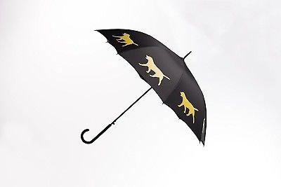 Labrador Retriever Rain Umbrella - Black/Yellow By San Francisco Umbrella Co. by The San Francisco Umbrella Company (Image #2)