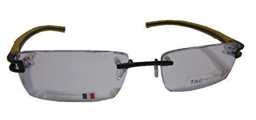 Tag Heuer Track S 7644 Eyeglasses 012 Black/ Black/Yellow by TAG Heuer