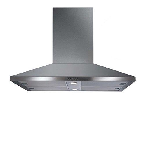 CDA ECHK90SS 90cm Chimney Island Cooker Hood Extractor in Stainless Steel [Energy Class D]