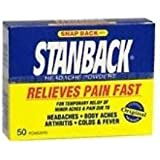Stanback Headache Powder, 50 Count (Pack of 6)