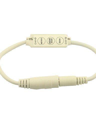JIN@ Mini Dimmer Controller 3 Keys For 5050 3528 Single Color LED Strip Light With 2.1MM Plug(12V 6A) ()