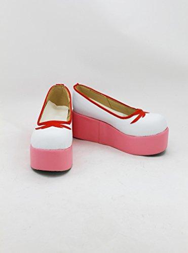 Sakura Kinomoto Cosplay Zapatos Botas Por Encargo Rosa Y Blanco