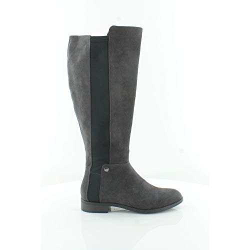 Price comparison product image Alfani Womens Pippaa Closed Toe Knee High Fashion Boots,  Anthracite,  Size 8.0