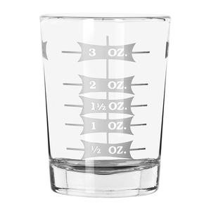 Shot Glass, Two - 4 oz Professional Measuring Glasses Jiggers (2) - 3 Ounce Shot Glasses