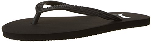 PUMA Women's First flip WNS Flop, Black/White, 10.5 M US