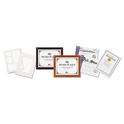 Plaque-in-an-Instant Kit w/Certs & Mats, Wood/Acrylic Up to 8 1/2 x 11, Mahogany (10 Pack) ()