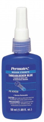 DEVCON Threadlocker Medium Strength - MODEL : 24250 Container Size: 50 ml. bottle Color: Blue by Permatex