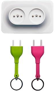 QUALY Unplug - Llavero, diseño de Enchufe: Amazon.es: Hogar