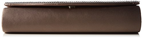 Clutch And Additional Satin With Chain Women's taupe Rhinestones Berydale Grey 7TxEqfqn