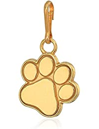 Women's Paw Print Charm 14kt Gold Plated, Expandable
