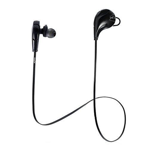 AGPtEK Q22 Bluetooth Headphones,Wireless Lightweight 4.1 Earbuds,HD Stereo Sweatproof Earbuds, 5 hours Battery, Secure Fit for Sports with Noise Cancelling and Built-in Mic