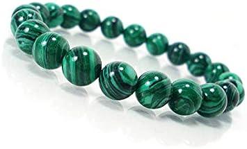 """Natural AAA malaquita estiramiento pulsera   7-7,5"""" longitud de malaquita pulsera de piedras preciosas   Pulsera unisex   12mm Perlas de forma redonda   Stretch Bracelet   Hombres pulsera de cuentas"""