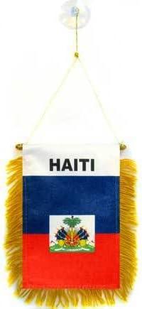 AZ FLAG BANDERIN de HAITÍ 15x10cm con Ventosa - BANDERINA HAITIANA 10 x 15 cm para Coche: Amazon.es: Jardín