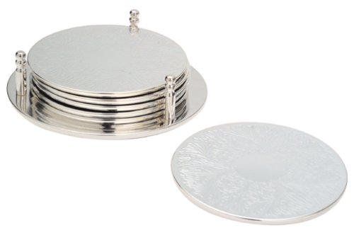 International Silver Plated - International Silver Silver-Plated Coasters, Set of 7