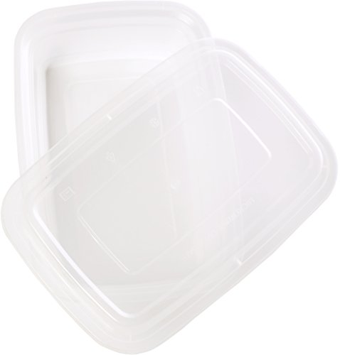 TTG 300-Pack Bento Lunch Boxes with Lids (1 Compartment/ 32 oz) | Microwaveable, Dishwasher & Freezer Safe Meal Prep Container | Reusable Dish Set for Prepping, Portion Control & More (Opaque White) by Table To Go (Image #2)
