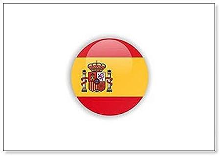 Imán para nevera con diseño de la bandera de España: Amazon.es: Hogar