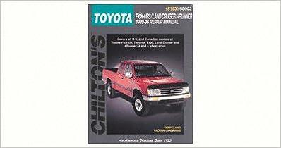 Chilton toyota trucksland cruiser4runner 1989 1996 repair manual flip to back flip to front fandeluxe Choice Image