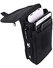 Large Smartphone Pouch, Cell Phone Holder, Tactical Phone Holster, Multi-Purpose Tool Holder, Tactical Carrying Case Belt Loop Pouch Men's Waist Pocket for Hiking, Camping, Barbeque, Rescue Essential