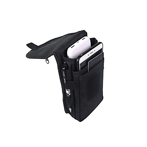 Large Smartphone Pouch, Cell Phone Holder, Tactical Phone Holster, Multi-Purpose Tool Holder, Tactical Carrying Case…