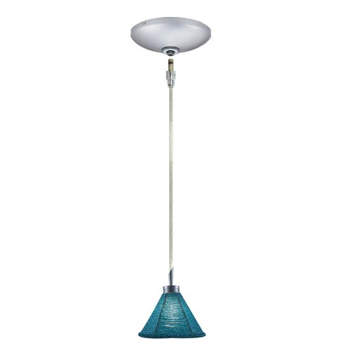 (Jesco Lighting KIT-QAP212-TQ-A Halle 1-Light Low Voltage Pendant and Canopy Kit, Turquoise)
