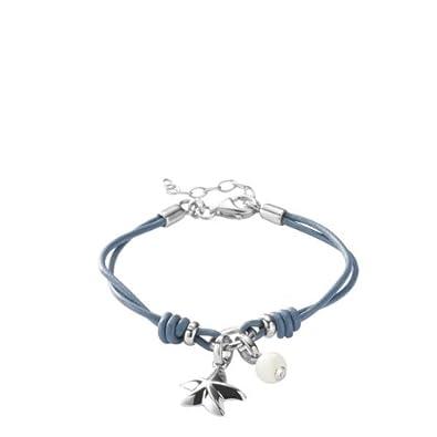 f99b5b9477 Fossil Damen-Charms Armband Seestern Bead Leder Blau 16-19,5 Cm JF85972040