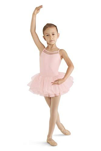- Mirella Girl's Cord Mesh Cami Tutu Dance Dress, Pink, Size 4-6
