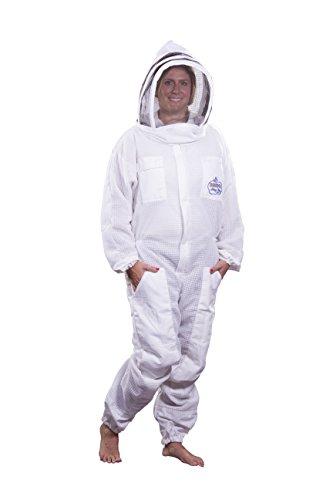BeeKool Ventilated Beekeeper Full Bee Suit (Small) by BeeKool