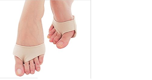 Dr Bomber (Dr. Pied Original Half Toe Sleeve Metatarsal Fabric Gel Pads - Bunion & Forefoot Cushioning - 2 Pieces - Prevent Calluses and Blisters)