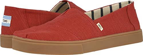 TOMS Men's Alpargata Espadrille, Size: 8 D(M) US, Color: Brick Red Heritage Canvas