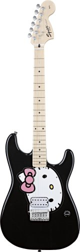 Fender Squier Hello Kitty Strat, Black
