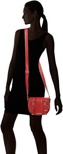 Love Moschino Borsa Vitello Smooth Rosso - Borse Baguette Donna, (Red), 6x17x22 cm (B x H T)