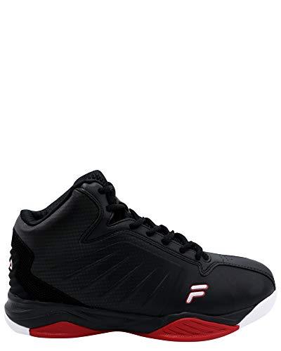 Fila Men's Entrapment 6 Sneaker,Black/Red,10.5