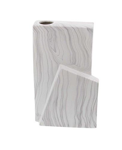 Deco 79 74693 Geometric-Shaped Ceramic Vase Marbling Accents 12