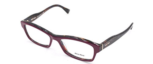 Miu Miu MU02IV - HAI1O1 Rx Eyeglass Frame - Red Glasses Miu Miu