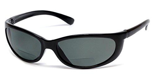 Sun-Mag+ Polarized Bi-Focal Sunglasses Readers in Black & Grey - Bifocal Readers Polarized