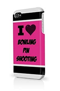 Bowling Pin Shooting Pink iPhone 5/5S Case - For iPhone 5/5S - Designer PC Case Verizon AT&T Sprint