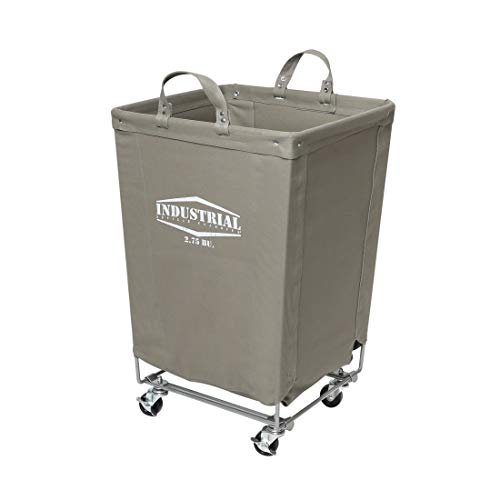 Seville Classics Commercial Heavy-Duty Canvas Laundry Hamper with Wheels, 18.1