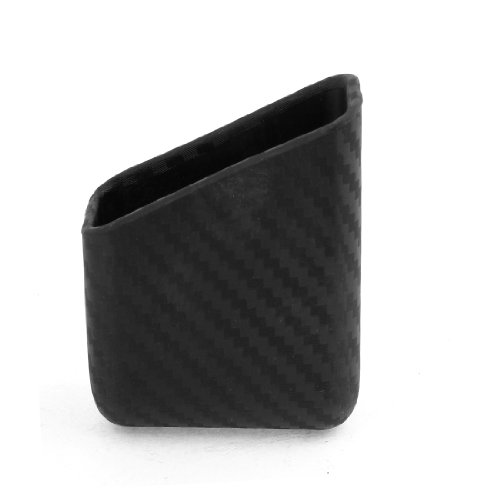 uxcell Cell Phone MP3 Black Carbon Fiber Storage Holder for Car Auto